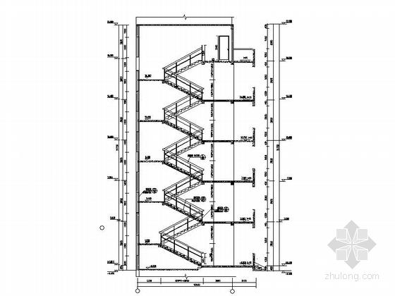 五层现代风格幼儿园楼梯节点图