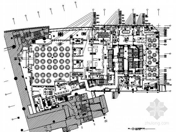 [广州]五星级豪华现代酒店二楼室内装修施工图(含效果)