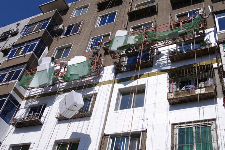 427栋老楼房外墙苯板保温工程全部完工