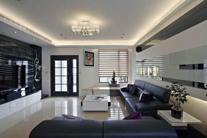198平方米现代风格透天别墅客厅装修效果图