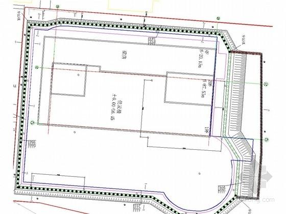 [河北]16米深基坑桩锚加土钉墙支护施工图(含设计计算书)