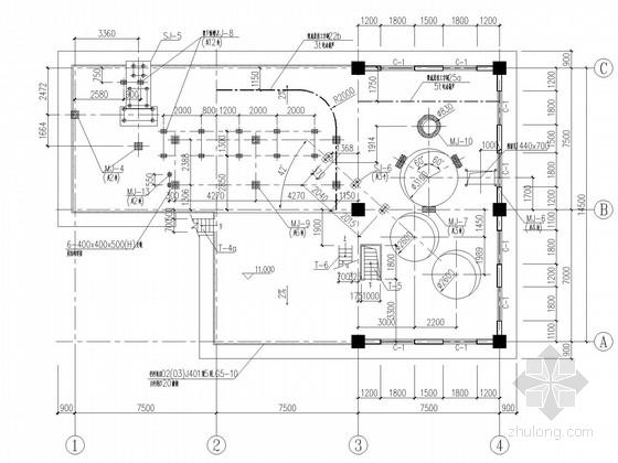 u型生产线布局图资料下载-190t/d烧成窑头及煤磨生产线结构施工图(含建施)