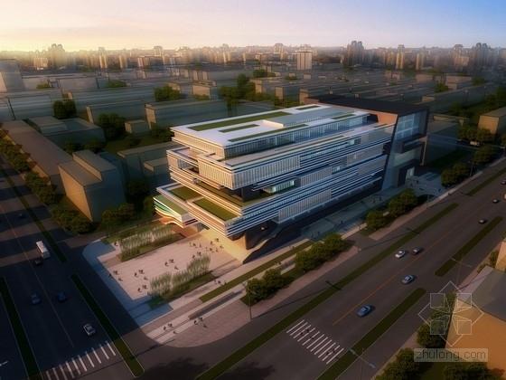 [天津]8层现代风格图书馆建筑设计方案文本(含cad 国内知名设计师设计)