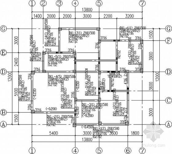 自建单体三层别墅结构施工图