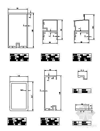 U型玻璃幕墙隔断资料下载-180系列(C型)隐框玻璃幕墙型材图