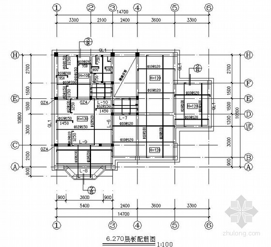 三层砌体结构别墅建筑结构施工图(条形基础 坡屋面)