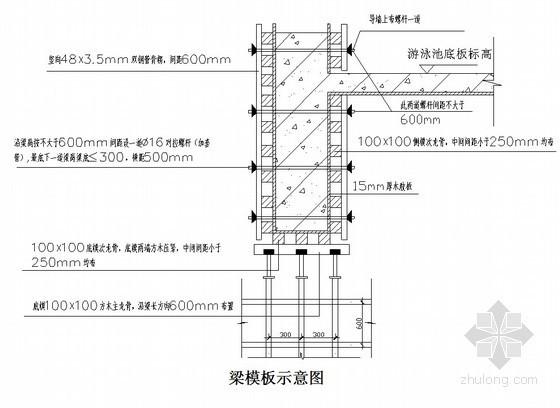 [北京]酒店高大模板及支撑体系施工方案(梁700×2100mm,高16.0m)