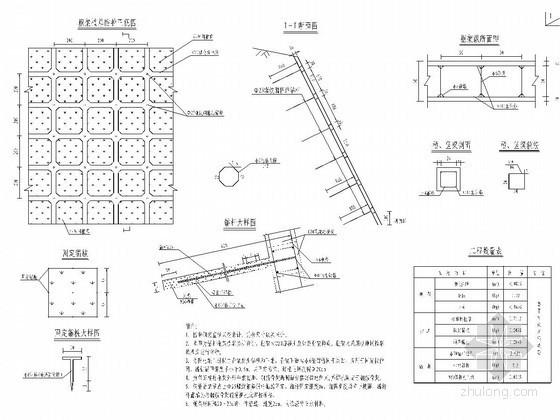 隧道锚杆框架植草防护设计图
