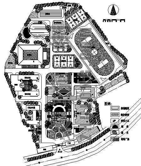 某校园规划总平面图