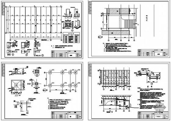 某点支承钢化玻璃车库入口结构设计图