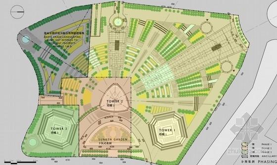 商业区规划总平面图