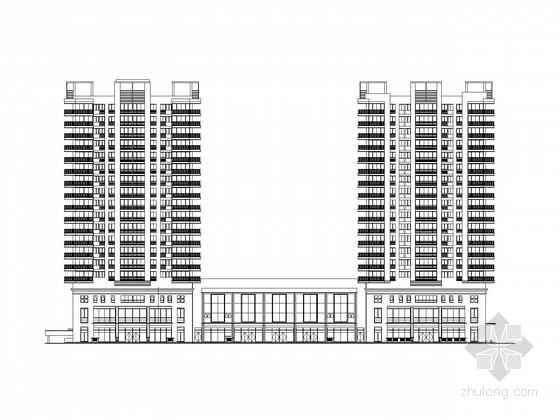 [陕西]18层高层商住楼建筑施工图