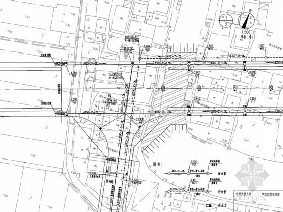 沥青混凝土路面城市主干道施工图(含管道)