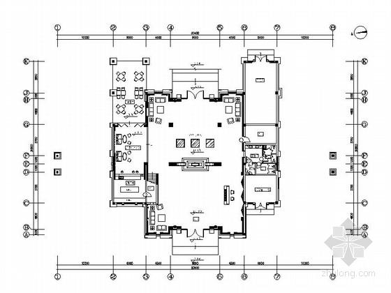 [浙江]新城核心区雅致中式风情会所设计装修施工图(含效果及手绘图)