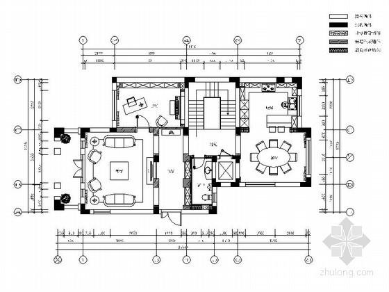 三层别墅装修平面布置图