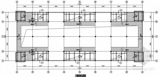 大空间框架结构施工图(软弱地基砂桩处理)