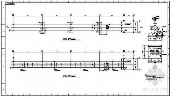 某钢结构桁架连廊结构设计图