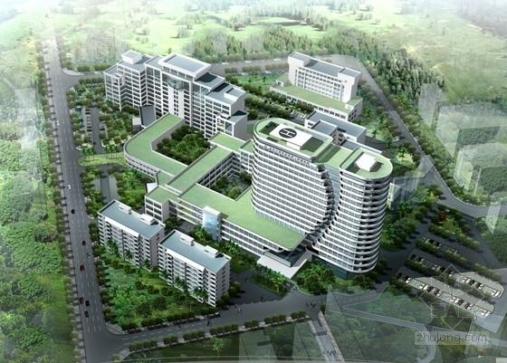 [广东]17层现代滨海风格医院医疗中心大楼建筑设计方案文本