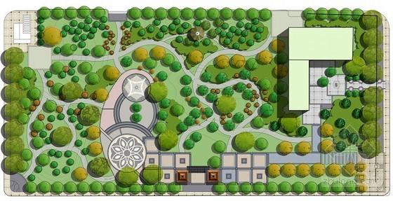 居住区组团绿地规划设计总平图片