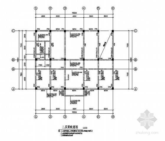 某五层框架卫生院结构设计图