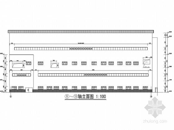 [山西]三层钢框架结构洗煤车间建筑结构图