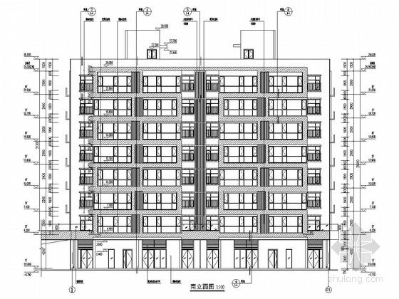 4400平八层带底商剪力墙结构住宅楼结构施工图(含建筑图)