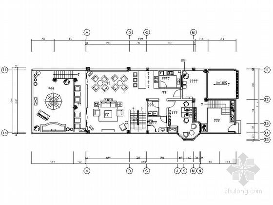 [雅安]现代新古典三层花园别墅样板间室内设计装修图(含效果实景)