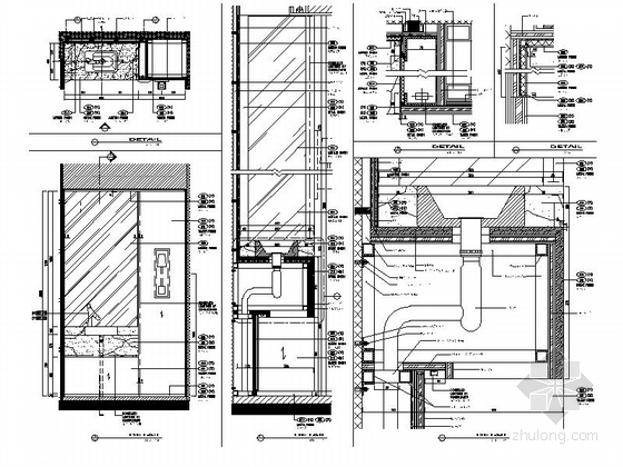 [四川]全球最大酒店客房电梯厅室内装修设计施工图(含方案效果)细部图