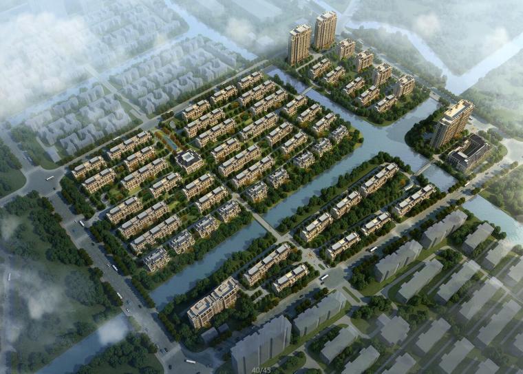 [上海]周浦欧陆风格居住区建筑方案文本设计(JPG+45页)