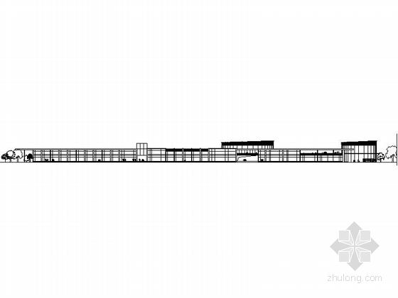 [上海]三层高档别墅及普通住宅楼建筑施工图-三层高档别墅及普通住宅楼建筑立面图