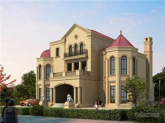 [浙江]三层意大利风格高级别墅建筑施工图(含结构图 推荐下载)