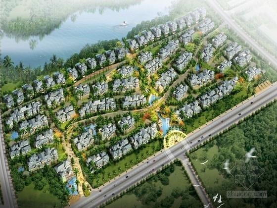 [海南]古典风格花园洋房居住区规划设计方案文本(知名公司设计)