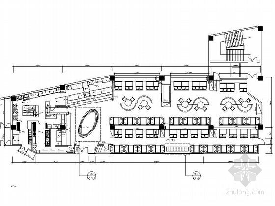 [武汉]全国连锁时尚现代火锅餐厅装修施工图(含效果)