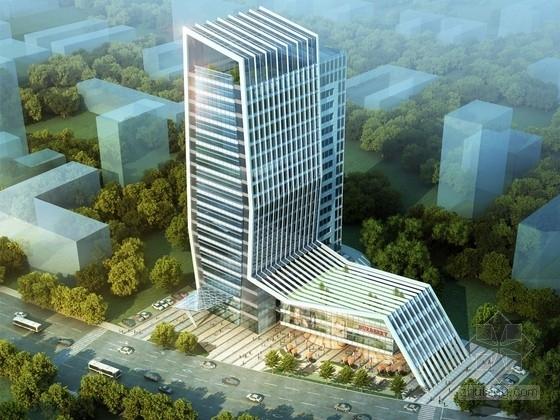 [福建]山体形态高层办公楼建筑设计方案文本(知名设计院)