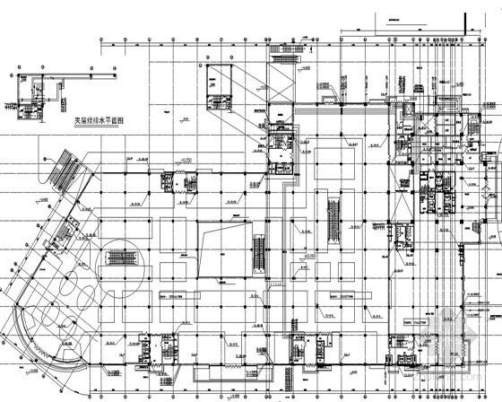 [江苏]20层高层综合商业楼给排水施工图纸