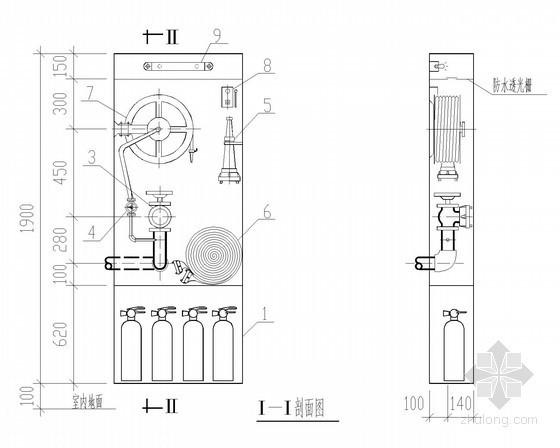 室内消火栓安装CAD图集
