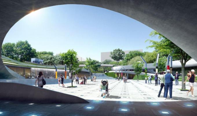 [湖北]滨水山地复合型立体化CBD中央城市公园景观设计方案(2017最新)