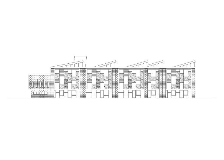 二所三林幼儿园建筑施工图(14班+CAD+效果图)