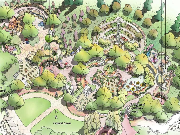 [美国]莽山儿童森林公园全套手绘概念性景观设计文本