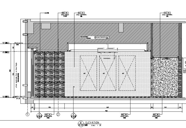 中山希尔顿酒店设计施工图(附效果图)-立面图