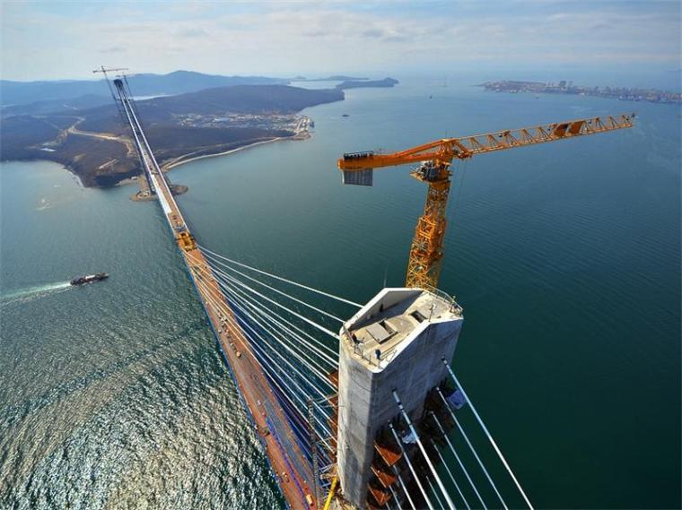 桥梁工程之斜拉桥设计概论(PPT,94页)-海参崴俄罗斯岛跨海大桥