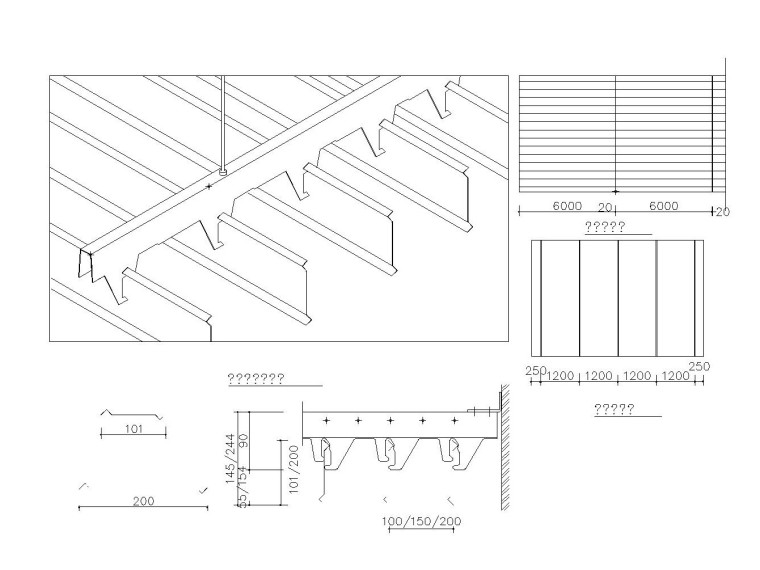室内顶棚、隔墙、造型墙大样节点图集