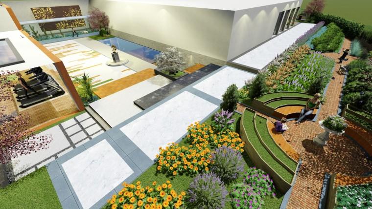 恒大同景国际庭院景观设计《多变的空间更有趣》