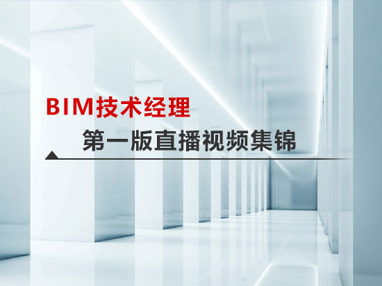 BIM技术经理高端研修班第一版直播视频集锦