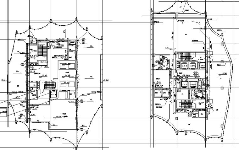 北京市六里屯商业办公及住宅项目全套施工图(给水泵房平剖面放大图,卫生间详图,集水泵坑详图,人防水箱间详图)
