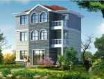 三层新农村单家独院式别墅建筑设计