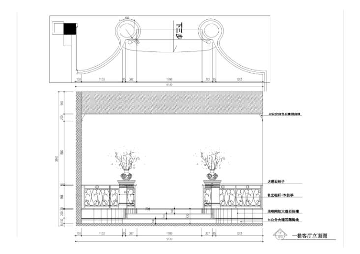 300平独栋欧式风格别墅室内设计施工图_6