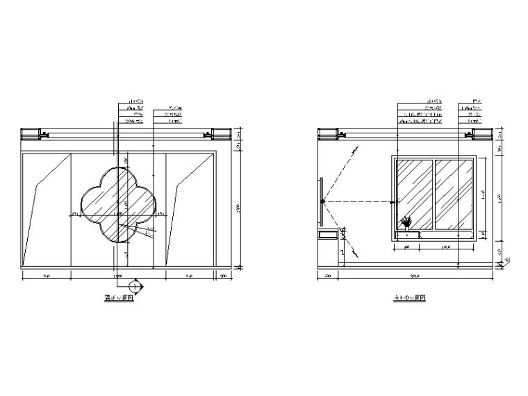 新中式样板房设计CAD施工图(含效果图)_4