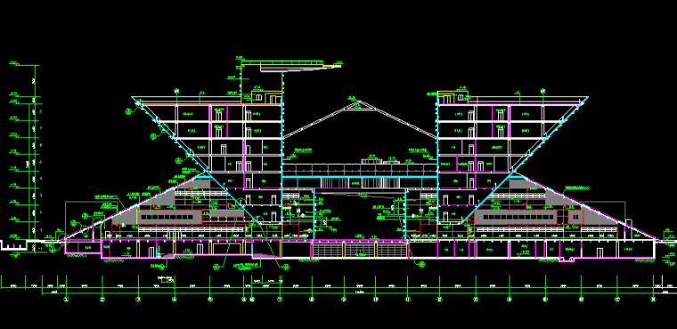东莞市青少年活动中心建筑施工图(某知名设计院)
