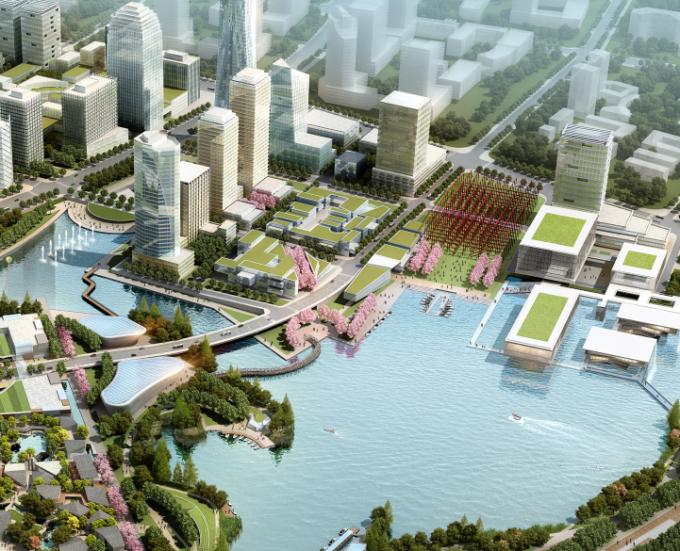 [江苏]滨江现代低碳示范区山水田园城市规划景观设计方案_14